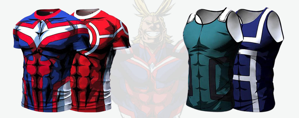 my hero academia workout clothes