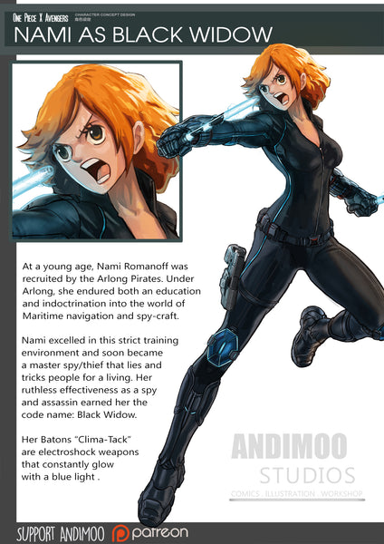 nami black widow avengers