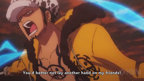 trafalgar law one piece stampede