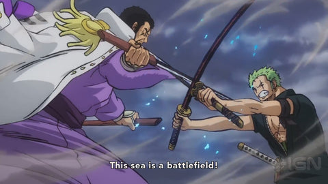 zoro vs fujitora one piece stampede