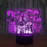 one piece 3d led lamp