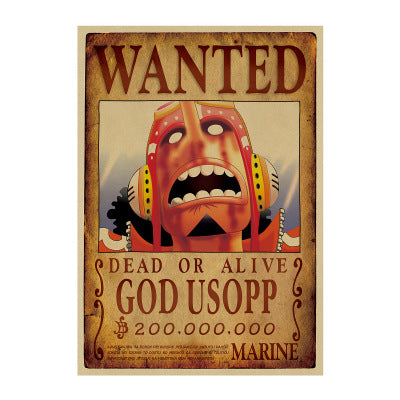 one piece god usopp wanted poster