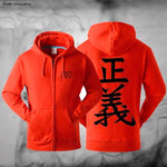 one piece marine red hoodie