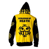 trafalgar law one piece hoodie