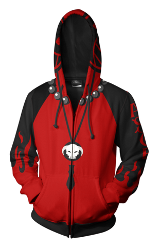 Portgas D Ace One Piece Zip Hoodie