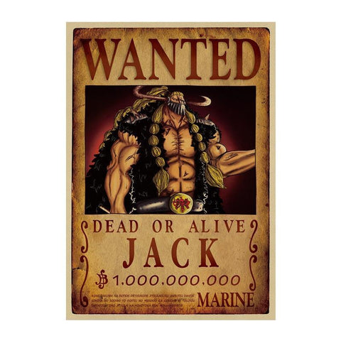 jack wanted poster one piece