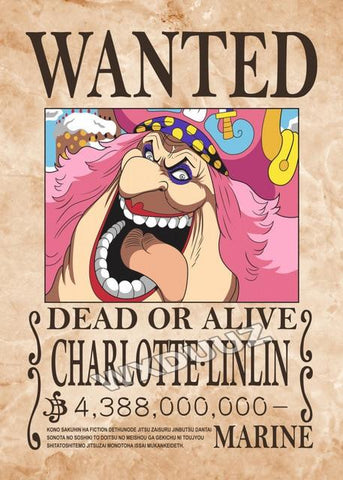 one piece big mom wanted poster