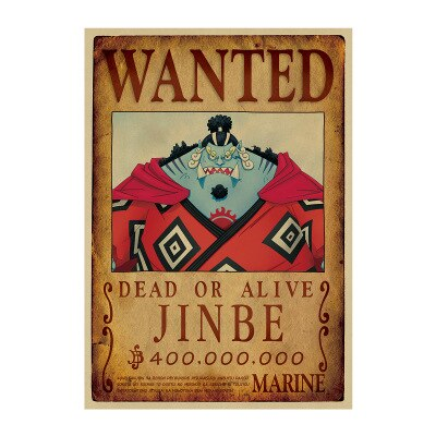 one piece jinbei wanted poster