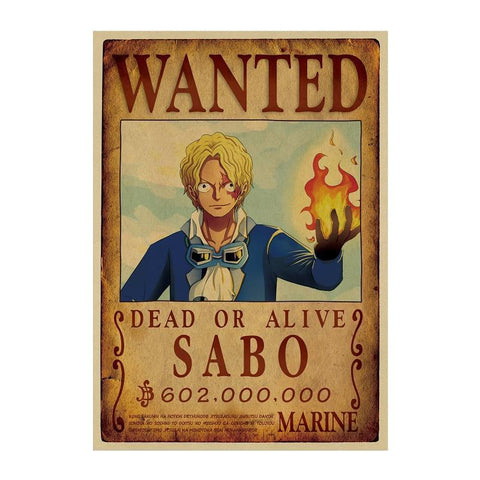 One Piece Wanted Poster <br> Sabo Bounty