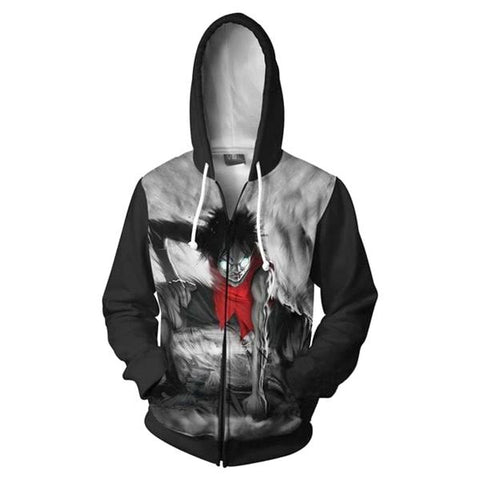 one piece zip up hoodie