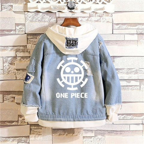 anime one piece jean jacket