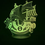 one piece thousand sunny 3d lamp