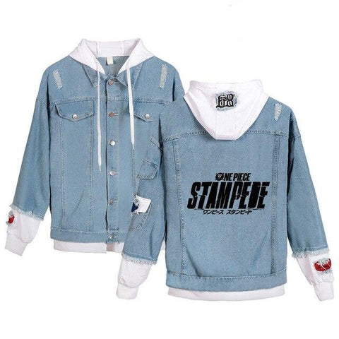 jean jacket one piece