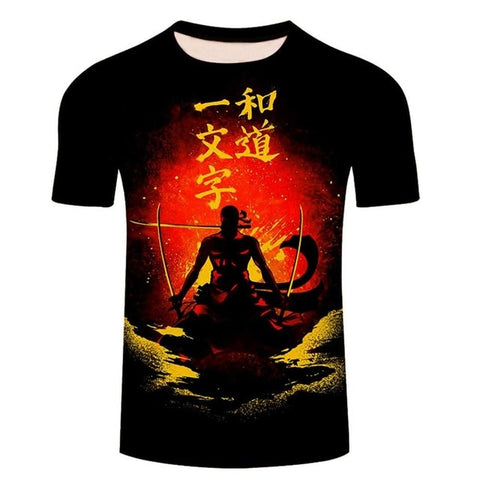 tee shirt one piece zoro