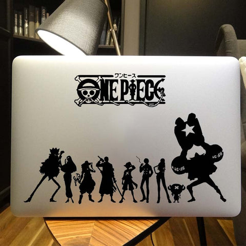 one piece laptop sticker