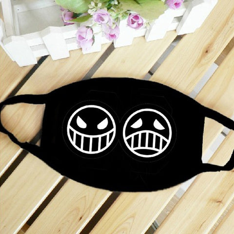 anime mouth mask black