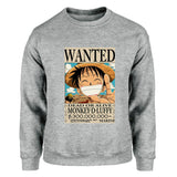 luffy wanted sweater