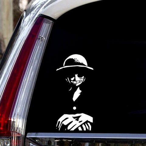 monkey d luffy car sticker