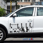 one piece straw hat car sticker