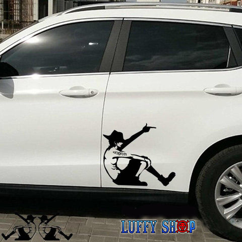 car sticker one piece ace