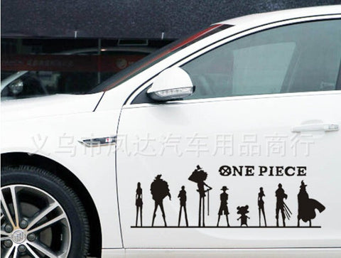 one piece anime car sticker