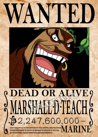 blackbeard wanted poster