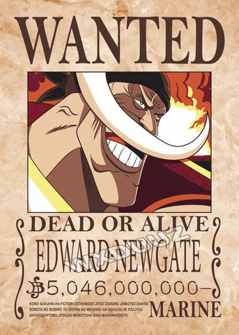 whitebeard wanted poster