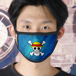 one piece straw hat face mask