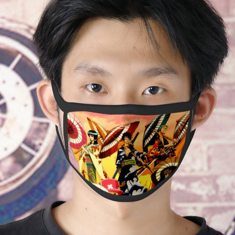 one piece anime face mask