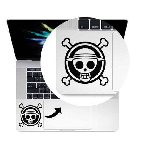 one piece stickers laptop