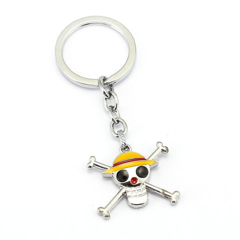 one piece stained metal keychain