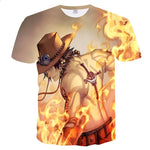 one piece ace t shirt