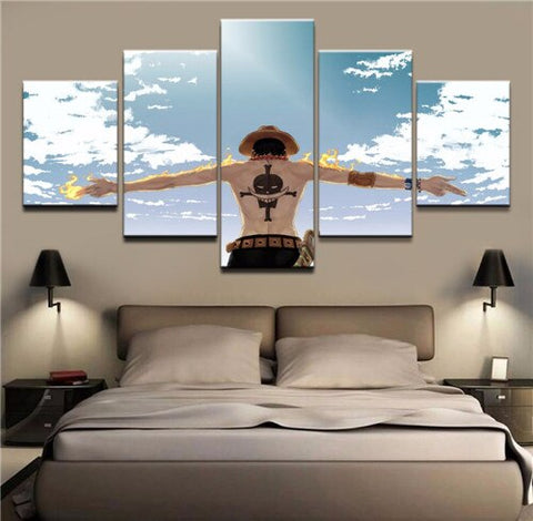 one piece ace canvas art