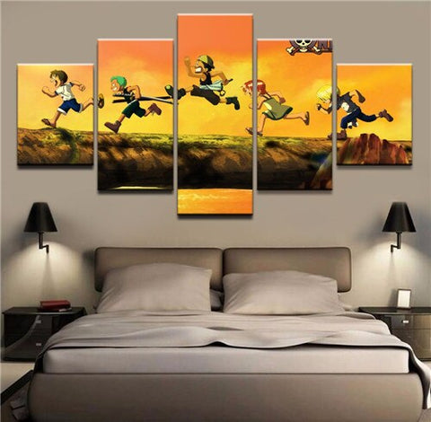 one piece anime canvas wall art