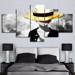 luffy 5 piece canvas