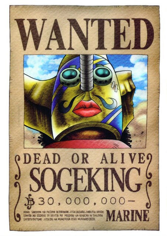 sogeking wanted poster