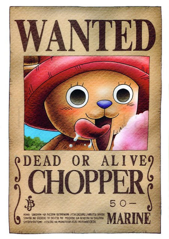 chopper one piece wanted poster