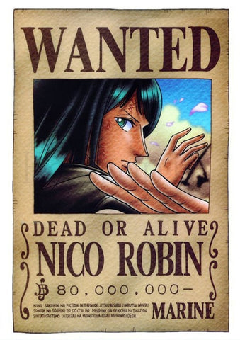 nico robin wanted poster hd