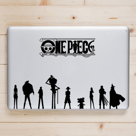 one piece mac sticker