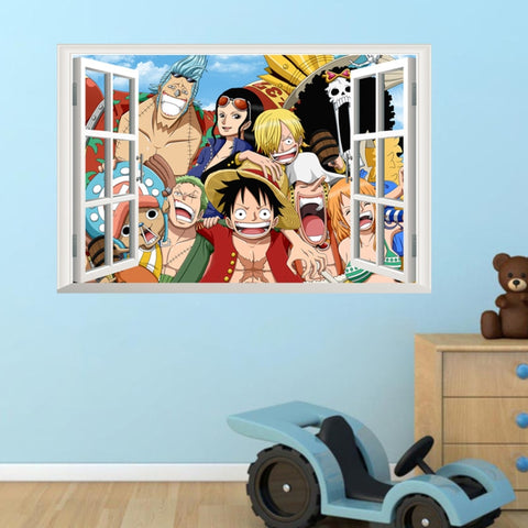 one piece anime wall sticker
