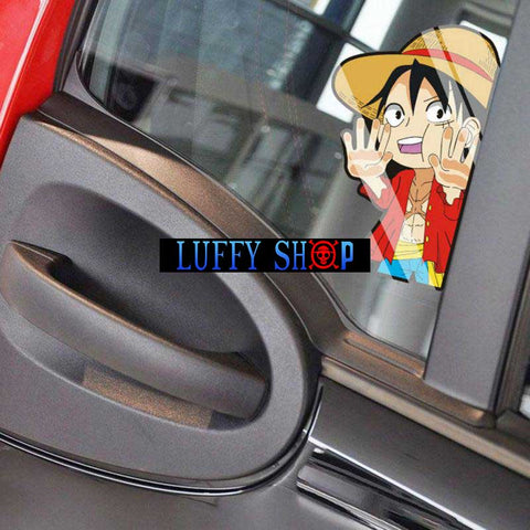 one piece peeker stickers