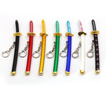 one piece zoro swords keychain