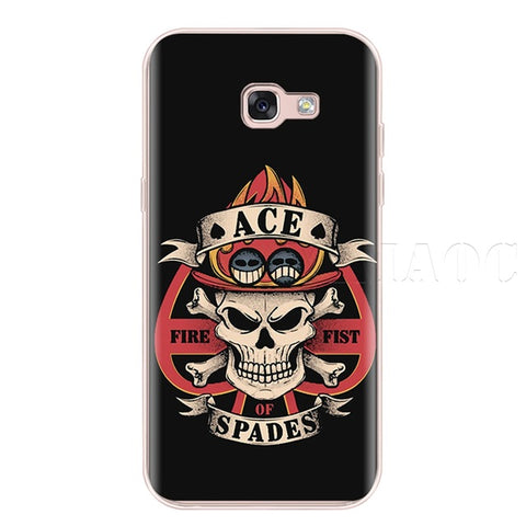 One Piece Phone Case Samsung <br> Ace Spades - Luffy Shop