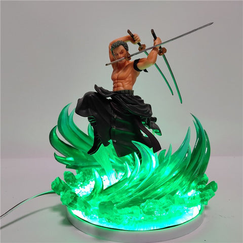 one piece zoro 3d lamp