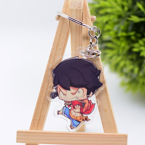 monkey d luffy keychain