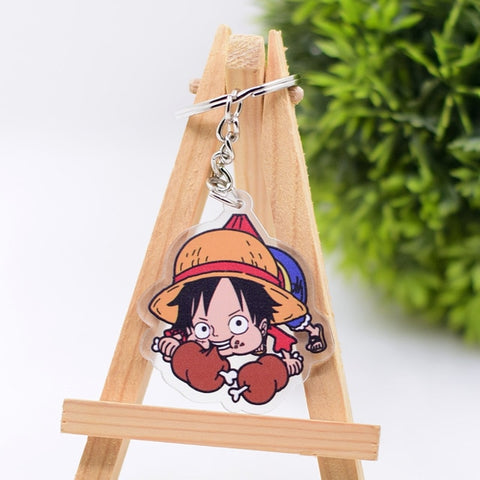 one piece luffy keychain