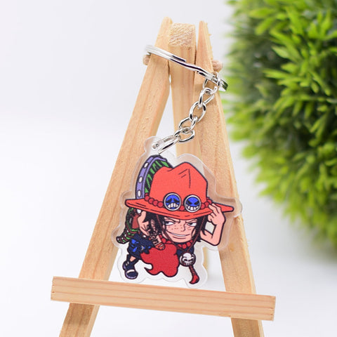one piece ace keychain