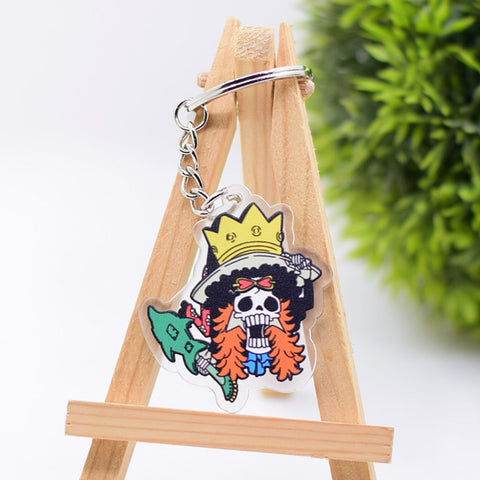 one piece rubber keychain