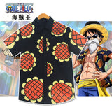 one piece luffy sunflower shirt