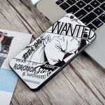 zoro wanted iphone case